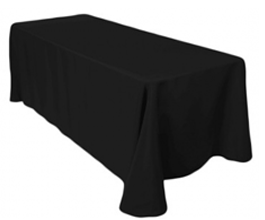 black 90 x 156 tablecloth got you covered. Black Bedroom Furniture Sets. Home Design Ideas